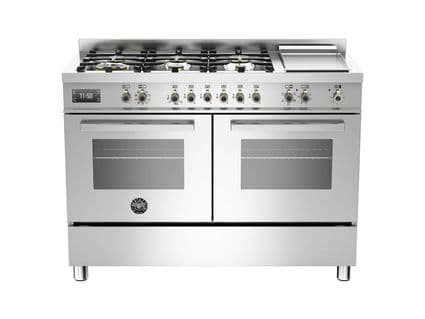 120cm Bertazzoni Professional PRO120-6G-MFE-D-XT in Stainless Steel with 6 burners