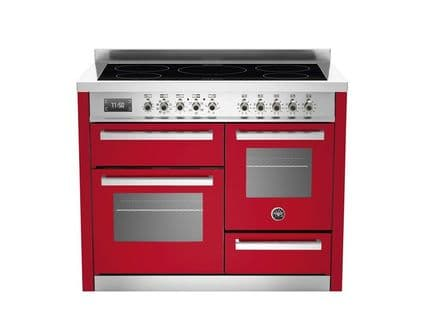 Beratzzoni 110 cm RED 5 Zone induction, triple oven Professional Series PRO110-5-MFE-T-ROT
