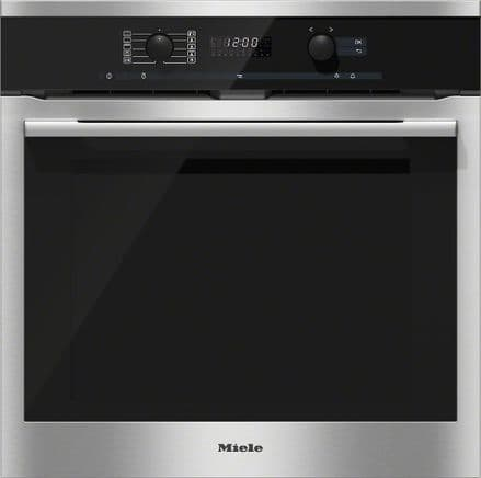 MIELE H6160BP ContourLine CleanSteel | Single Built In Electric Oven