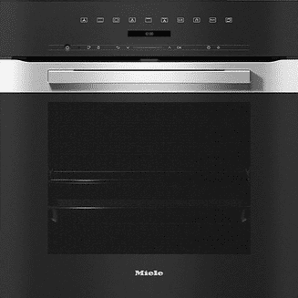 MIELE H7264 BP Oven seamless design with clear text, networking & pyrolytic cleaning.