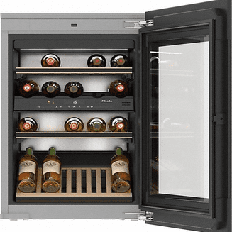 MIELE KWT 6422 iG Built-in wine conditioning unit with FlexiFrame and Push2open
