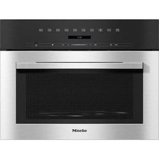 MIELE M7140 TC Built-in microwave oven with top controls | Clean Steel
