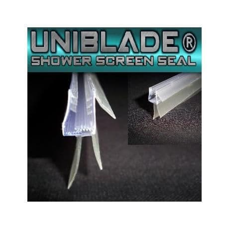 Uni blade Universal Bath//Shower Screen Seal For Straight or Curved 4-10mm Glass