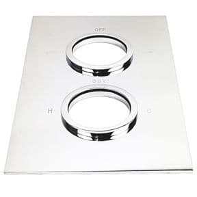Ebaths Shower Twin Outlet Face Plate EBTWINFP