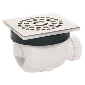 Wirquin Twisto 90mm Shower Waste with Stainless Steel Grid 34040501